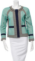 Veronica Beard Collarless Patterned Jacket