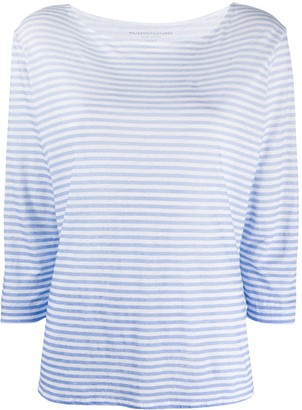 Majestic Filatures ombre striped linen T-shirt
