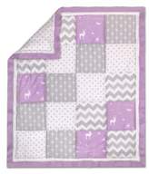 The Peanut Shell Woodland Patchwork Quilt in Purple/Grey