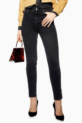 Topshop Womens Washed Black Orson Jeans - Washed Black