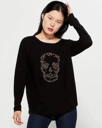 360 Cashmere Ply Cashmere Long Sleeve Leopard Sweater