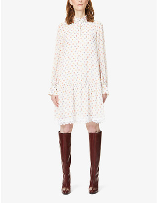 See by Chloe Floral-print chiffon mini dress