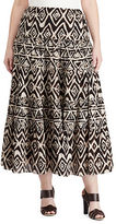 Lauren Ralph Lauren Plus Geometric Cotton Maxiskirt