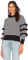 Endless Rose Ruffle Sleeve Detail Stripe Sweater
