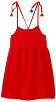 Andy & Evan Tassel Detail Voile Dress (Toddler & Little Girls)