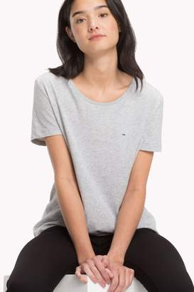 Tommy Jeans Womens Grey T-Shirt - Grey