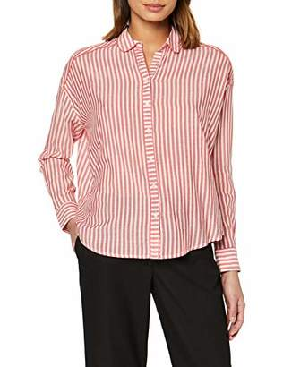Scotch & Soda Maison Women's Viscose Mix Shirt with Piping Details in Various Patterns Blouse,Large