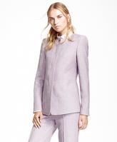 Brooks Brothers Collarless Linen-Blend Jacket