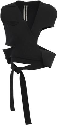 Rick Owens Cutout Cotton-blend Wrap Vest