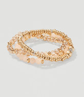LOFT Blush Crystal Stretch Bracelet Set