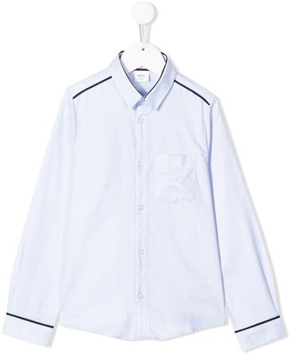 Boss Kids Check Print Shirt