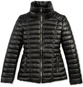 GUESS Faux-Leather Puffer Coat, Big Girls (7-16)