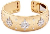 Buccellati Diamond star 18k yellow gold cuff