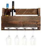 DelHutsonDesigns 4 Bottle Wall Mounted Wine Rack