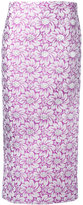 Rochas jacquard midi skirt - women - Silk/Cotton/Polyamide/Polyester - 44