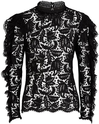 Isabel Marant Tory black lace blouse