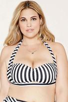 Forever 21 FOREVER 21+ Plus Size Stripe Bikini Top