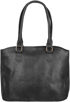 Yours Clothing Black Textured Shopper Bag
