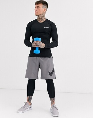 Nike Training Pro Training long sleeve baselayer top in black