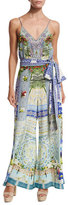 Camilla Belted Wide-Leg Jumpsuit, My Majorelle