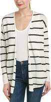 Chaser Ribbed Sleeve Linen Cardigan