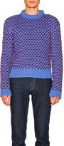 Calvin Klein Bi-Color Crew Neck Sweater in Blue.