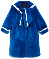 Marc Jacobs Preorder Rabbit Fur Coat With Traditional Sailor Collar