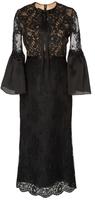 Marchesa Bell Sleeve Cocktail Dress