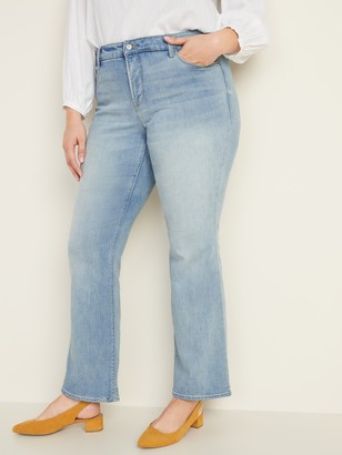 Old Navy High-Waisted Secret-Slim Pockets Kicker Boot-Cut Plus-Size Jeans