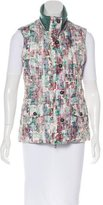 M Missoni Abstract Print Quilted Vest