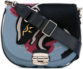 Furla badger panel saddle bag