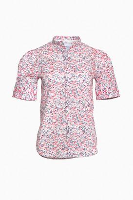 The Shirt By Rochelle Behrens Cherry Blossom Short Sleeve Puff Shoulder