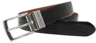 Geoffrey Beene Men's 32mm Reversible Belt, Crocodile Print to Solid Smooth Strap