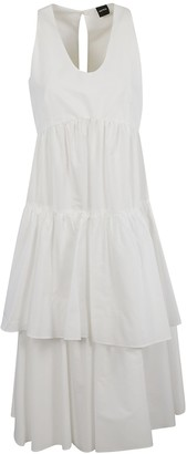 Aspesi Double Layered Skirt Sleeveless Dress
