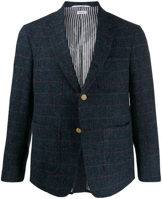 Thom Browne Checkered Notched Lapels Blazer