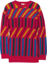 KENZO Intarsia angora-blend sweater