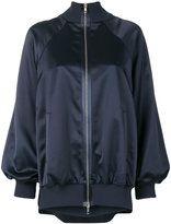 Maison Margiela satin bomber jacket - women - Cotton/Polyamide/Polyester/Virgin Wool - 44