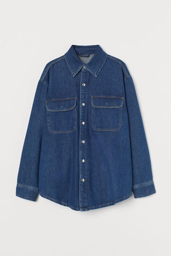 Thumbnail for your product : H&M Denim Shirt Jacket - Blue