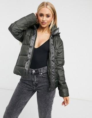 G Star G-Star hooded padded jacket in khaki