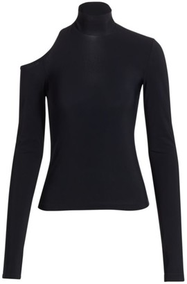 Helmut Lang Shoulder Cutout Turtleneck