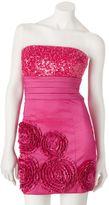 My Michelle sequin & rosette tube dress