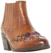 Bertie Peonies Block Heeled Chelsea Boots