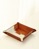Graphic Image Calf Hair Valet Tray, White/Brown