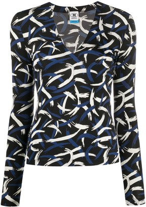 M Missoni Abstract Print Top