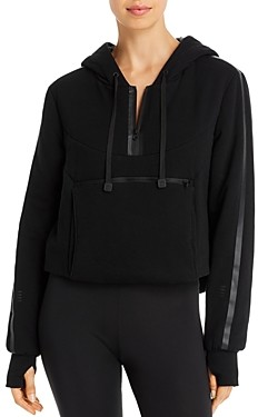 Blanc Noir Packable Cropped Hooded Sweatshirt