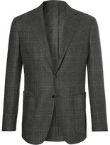 Drakes Drake's - Easyday Grey Prince Of Wales Checked Virgin Wool Suit Jacket - Gray