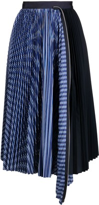 Sacai Asymmetric Midi Skirt