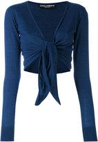 Dolce & Gabbana front-tie cardigan - women - Silk/Cashmere - 38