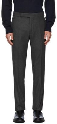 Ralph Lauren Purple Label Grey Flannel Solid Trousers