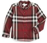 Burberry Mini Fred Check Woven Shirt (Toddler Boys, Little Boys & Big Boys)